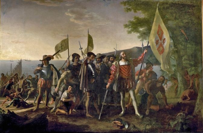 Christopher Columbus, painting by John Vanderlyn