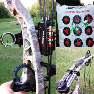 My bow setup and arrow selection.