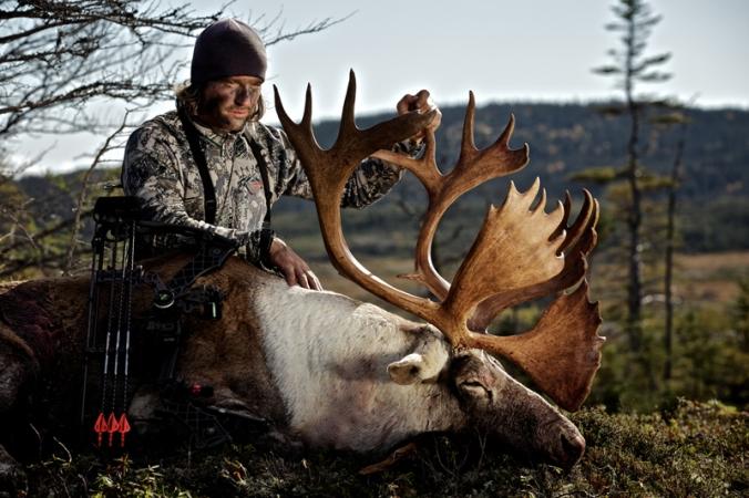 Donnie Vincent with caribou