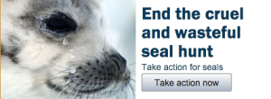 Images like this from IFAW propagate misinformation about the seal hunt. I'm not sure if seals have tear ducts.